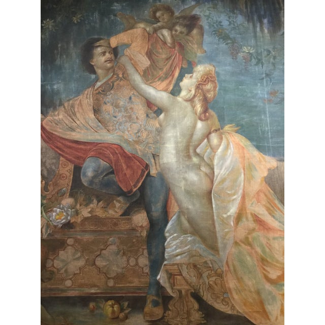 19th Century French Aubusson Tapestry Cartoon For Sale