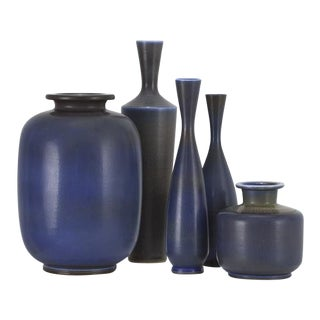 BERNDT FRIBERG Collection of vases Sweden, ca. 1955 For Sale