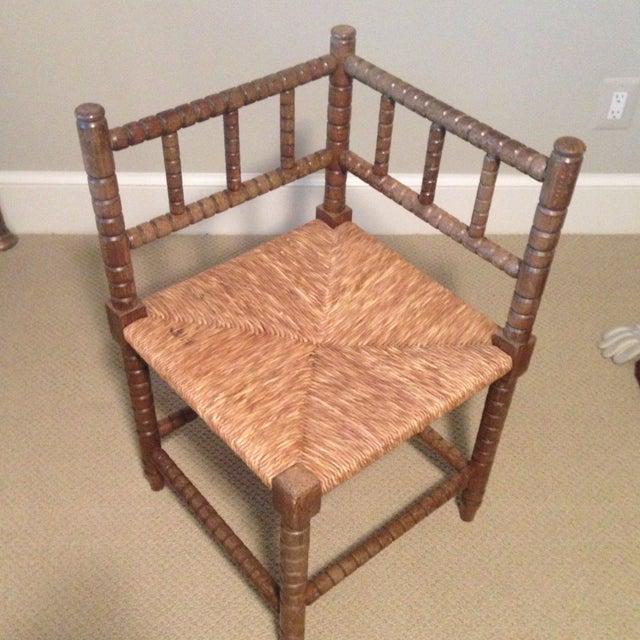 Corner Cane Spool Chair - Image 3 of 7