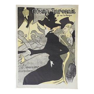 """Vintage Lautrec Lithograph """"Divan Japonais"""" For Sale"""