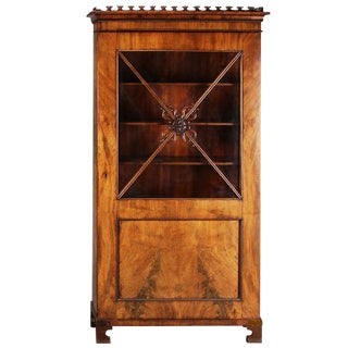 19th Century Neoclassical Style Walnut Bookcase For Sale
