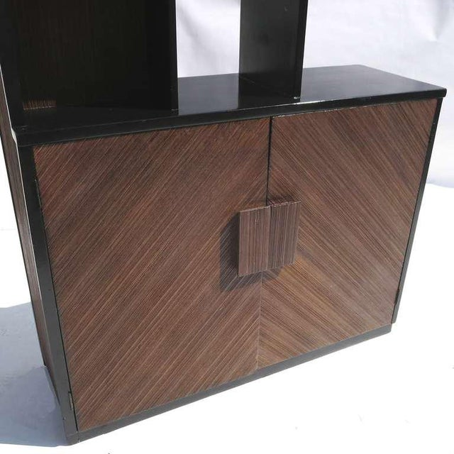 Lacquer 1950s Paul Frankl Stepped Room Divider Cabinet For Sale - Image 7 of 8