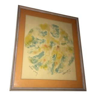 1965 Chaim Gross Signed Artist Proof Abstract For Sale