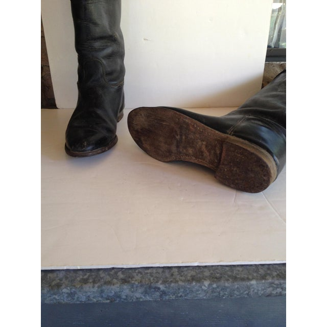 Black Leather Equestrian Boots - Image 4 of 5