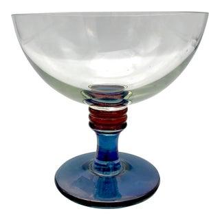 1960s Vintage Mid-Century Modern Italian Cristallerie Bowl For Sale