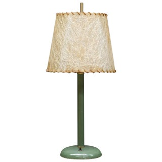 Kurt Versen Table Lamp Original Shade Vintage Midcentury Rustic Relic Patina For Sale