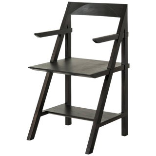 Cantilever Series Armchair by Phaedo, Oxidized Black Walnut For Sale