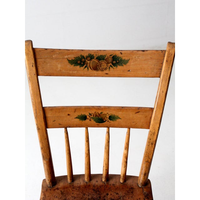 Late 19th Century Antique Primitive Chair For Sale - Image 5 of 10