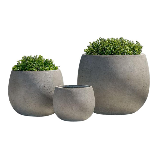 Stone Grey Planter, Set of 3 For Sale
