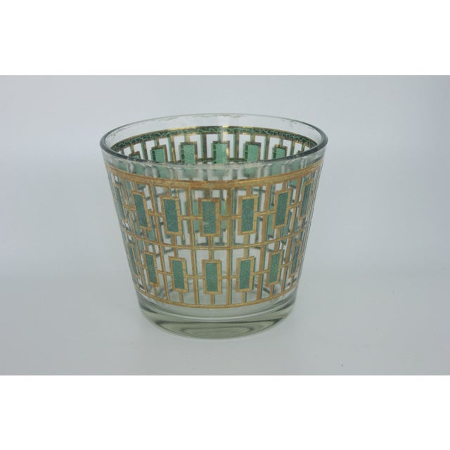 Vintage Culver Green and Gold Ice Bucket - Image 2 of 6