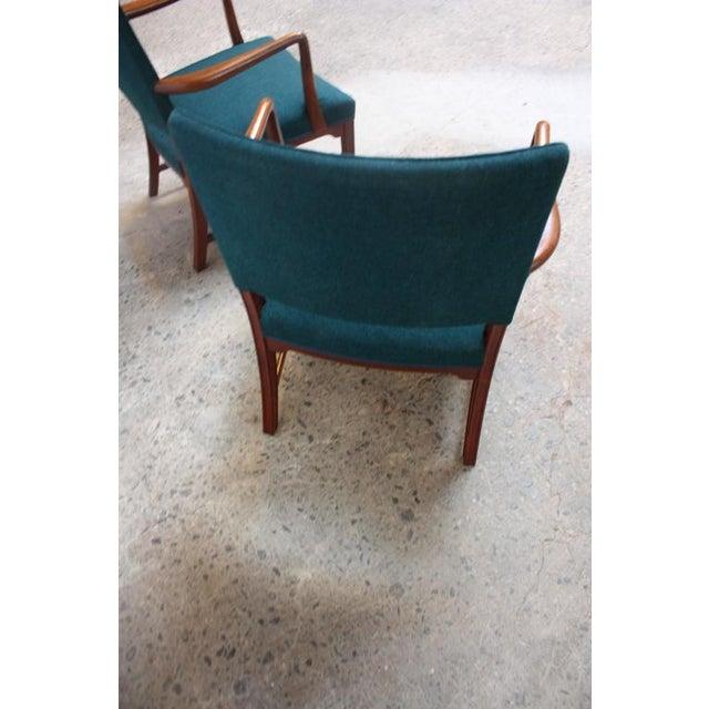 Pair of Danish Modern Sculptural Teak Armchairs For Sale - Image 10 of 10