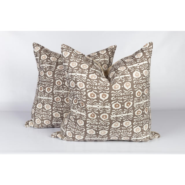 2010s Rapture & Wright Iznik Boho Custom Linen Pillows, Pair For Sale - Image 5 of 5