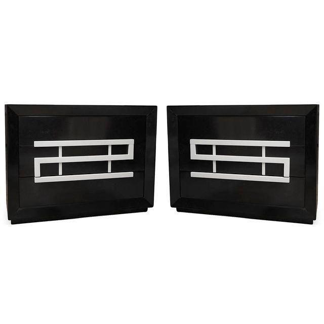 Black Dresser By Maximilian For Karp Furniture Refinished 1950s