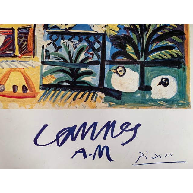 "1990s 1994 Pablo Picasso ""Cannes A.M."" Lithographic Poster For Sale - Image 5 of 13"