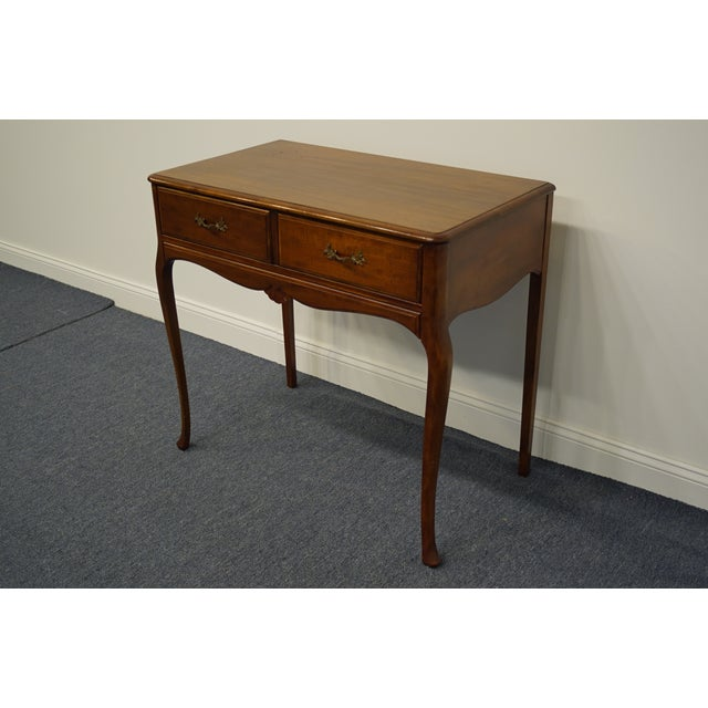 """1960s Vintage Antique Country French Walnut 35"""" Vanity For Sale - Image 4 of 12"""