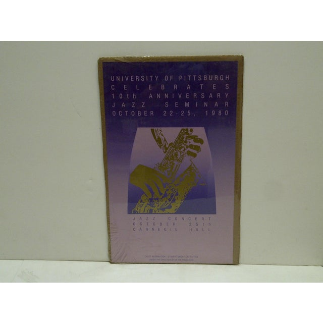 This is a Vintage Jazz Concert Poster -- Carnegie Hall -- University Of Pittsburgh -- October 22-25, 1980 -- The Poster Is...