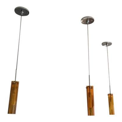 Hand Blown Glass Coax Low Voltage Pendants - Set of 3 - Image 1 of 7