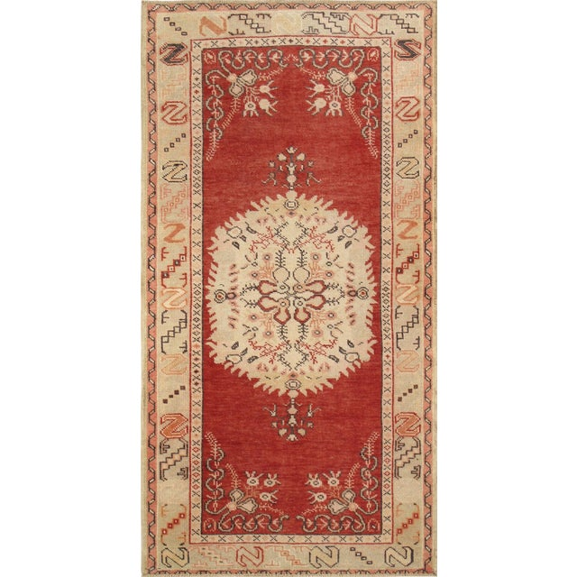 "Vintage Oushak Rug- 3'4"" X 6'6"" For Sale"