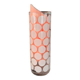 Table Art - Paola Navone Egezia Modern Italian Art Glass Polka Dot Vase For Sale