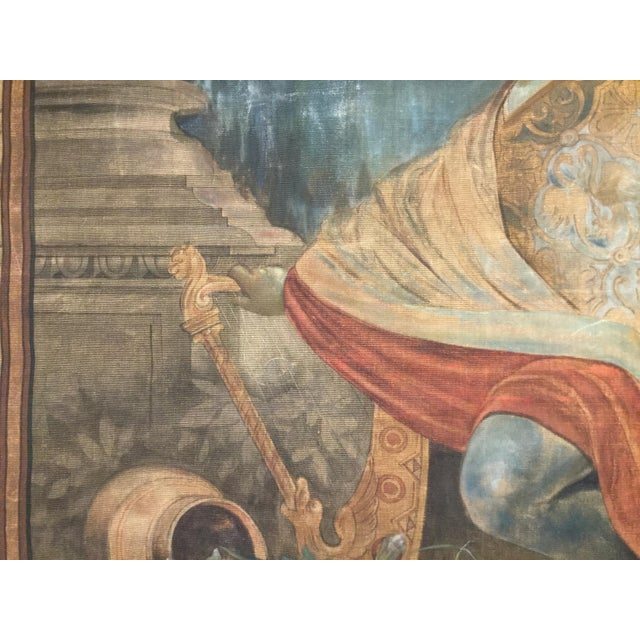 19th Century French Aubusson Tapestry Cartoon For Sale In Indianapolis - Image 6 of 13