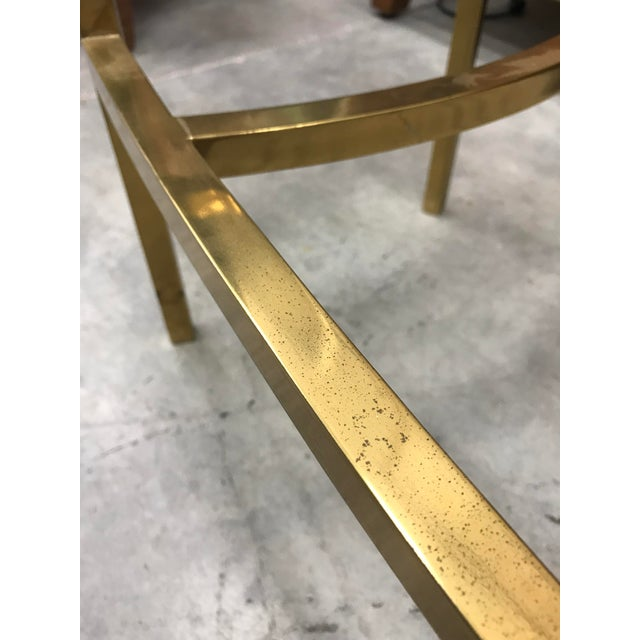 1970s Vintage Italian Brass Coffee Table For Sale In Miami - Image 6 of 9
