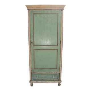 Vintage Painted Pine Storage Cupboard For Sale
