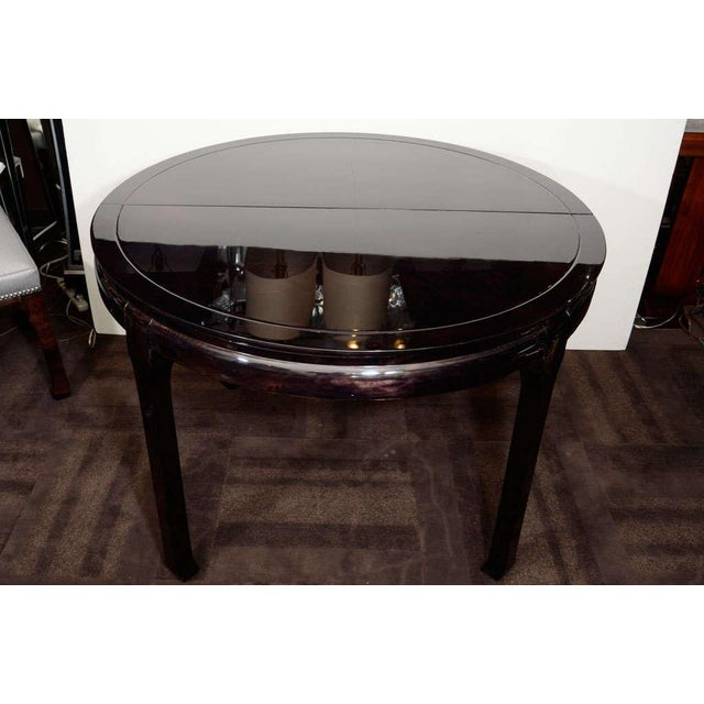 Modern Round Pagoda Dining Table in The Manner of James Mont For Sale - Image 10 of 11