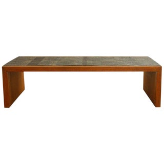 Bronze Waterfall Coffee Table in the Manner of Paul Evans