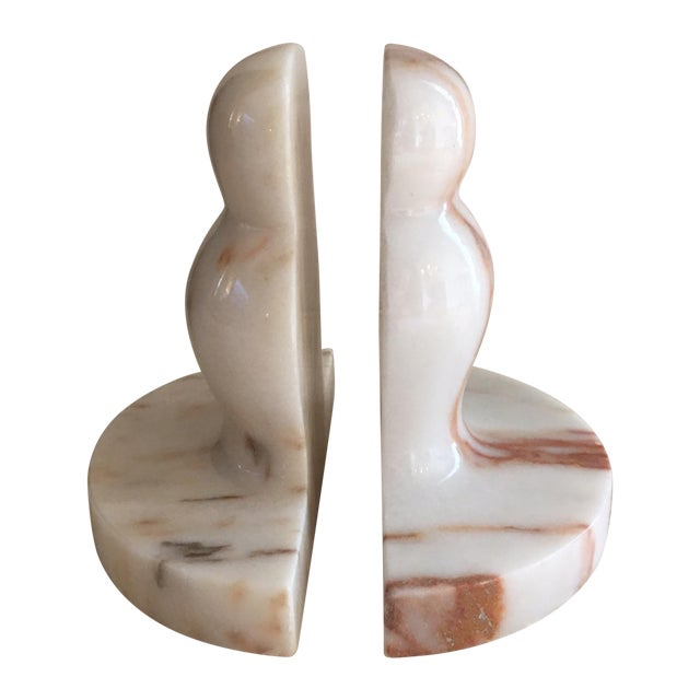 Marble Pawn Bookends - A Pair - Image 1 of 6