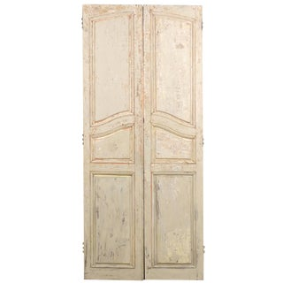 French Early 19th Century Wooden Doors - a Pair For Sale