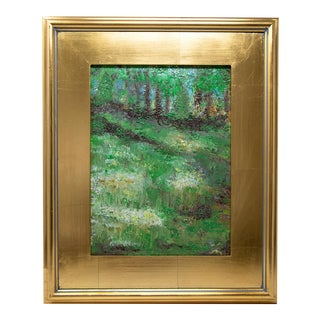 Landscape Elk Lake Oil Painting, Framed For Sale