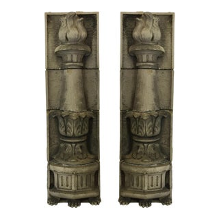 American Terracotta Pilasters - a Pair For Sale