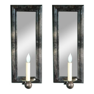 Parchment Wall Sconces - A Pair For Sale