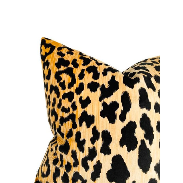 Contemporary Leopard Velvet Pillow Cover For Sale - Image 3 of 4