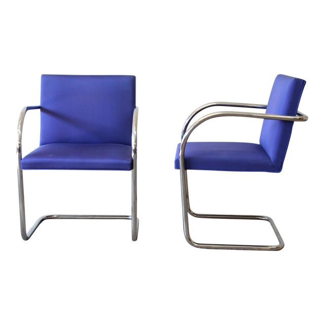 Mies Van Der Rohe for Knoll International Brno Chairs - a Pair For Sale