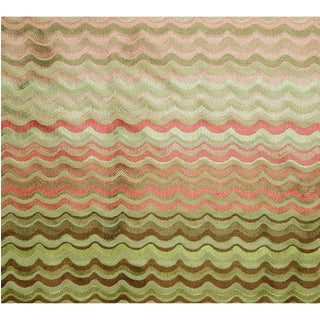 Scalamandre New Wave Fabric in Coral For Sale