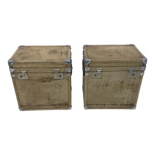 Mid 19th Century Vellum Trunks-a Pair For Sale
