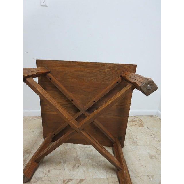 Brandt Ranch Oak End Table For Sale - Image 10 of 11