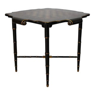 Black & Gold Gilt Game Table For Sale