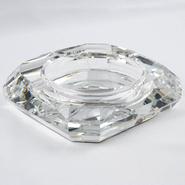 Art Deco Jean Luce French Art Deco Mirrored Glass Cigar Ashtray For Sale - Image 3 of 8