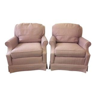 Mauve Ethan Allen Chairs - A Pair