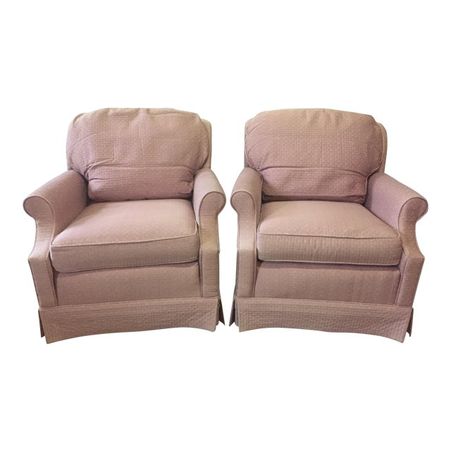 Mauve Ethan Allen Chairs - A Pair - Image 1 of 3