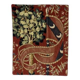1980s Allan Waller Ltd. Point De l'Halluin Tapestries Lady and the Unicorn Panel #6 For Sale