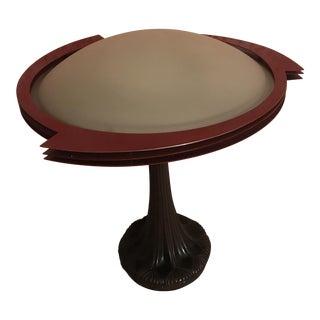 Art Nouveau Disk Glass Lamp