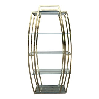 1970s Vintage Chrome Art Deco Shelf Etagere** For Sale