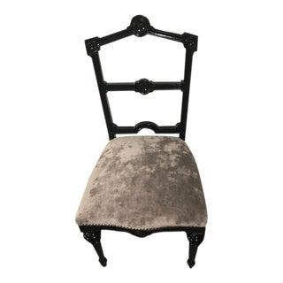 21st Century Vintage Black Decoupage' Side Chair For Sale