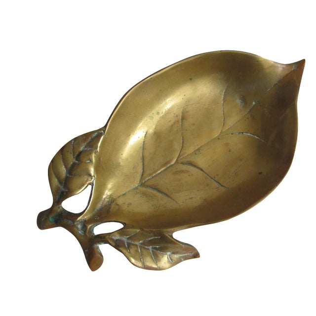 Brass Leaf Dish - Image 1 of 8