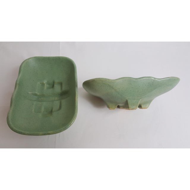 Mid-Century Modern McCoy Mid Century Shallow Planters - Pair For Sale - Image 3 of 5