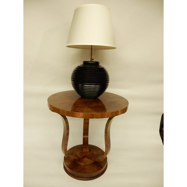 Elegant Tulip Shaped Art Deco Walnut Table For Sale In New Orleans - Image 6 of 7