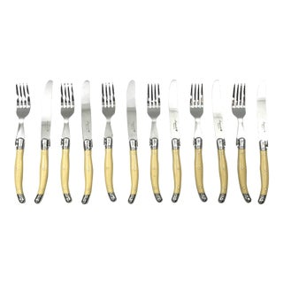 """Flying Colors"" Laguiole Cutlery - Set of 12"